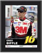 "Greg Biffle Sublimated 10.5"" x 13"" Plaque - Mounted Memories"