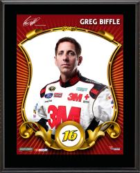 "Greg Biffle Sublimated 10.5"" x 13"" Stylized Plaque"