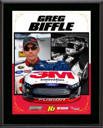 Greg Biffle Sublimated 10.5'' x 13'' Stylized Composite Plaque - Mounted Memories