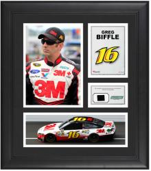 Greg Biffle Framed 15'' x 17'' Collage with Race-Used Tire - Mounted Memories  - Mounted Memories