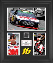 Greg Biffle Framed 3-Photograph Collage with Race-Used Tire-Limited Edition of 500 - Mounted Memories