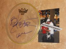 """Big And Rich Country Music Signed New! 8"""" Remo Drumhead Autographed Exact Proof!"""