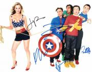 BIG BANG THEORY CAST SIGNED AUTOGRAPHED 11x14 PHOTO - KALEY CUOCO, JIM PARSONS +