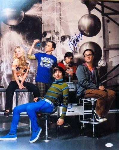 Big Bang Theory Cast Signed Autographed 16X20 Photo Parsons Galecki + JSA S79330