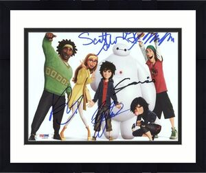 Big Hero 6 Cast (5) Potter, Miller Signed 8X10 Photo PSA/DNA #Y08005
