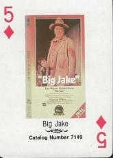 Big Jake RARE 1988 CBS Fox Promotional Playing Card John Wayne