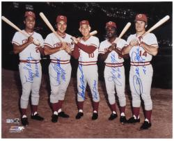 Big Red Machine Cincinnati Reds Autographed 16'' x 20'' Photograph With ''4256''& HOF Inscriptions