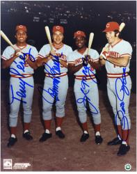 "Pete Rose, Johnny Bench, Joe Morgan and Tony Perez Cincinnati Reds Big Red Machine Autographed 8"" x 10"" Photograph"