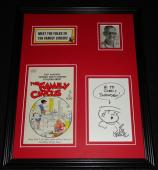 Bil Keane Signed Framed Family Circus Billy Sketch & Book Cover Display