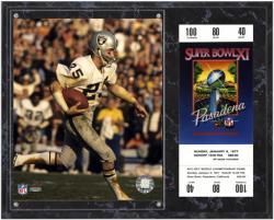 Oakland Raiders Super Bowl XI Fred Biletnikoff Plaque with Replica Ticket