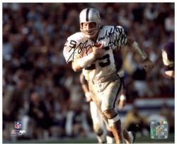Fred Biletnikoff Oakland Raiders Autographed 8'' x 10'' Horizontal Running Photograph with HOF 88 Inscription - Mounted Memories
