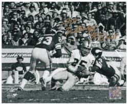 Fred Biletnikoff Oakland Raiders Autographed 8'' x 10'' Horizontal Touchdown Photograph with SB XI MVP Inscription - Mounted Memories