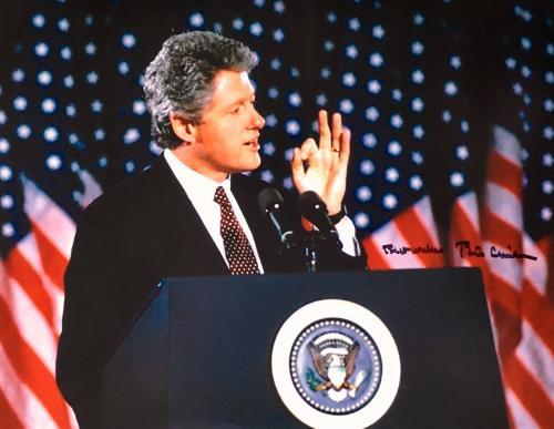 Bill Clinton (42nd President) 11x14 Signed Photo JSA Z07673