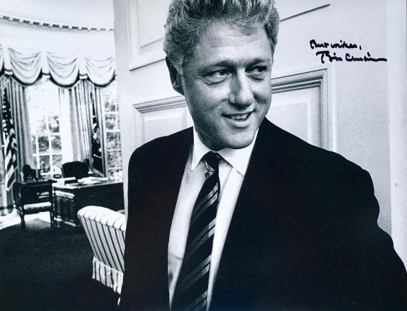Bill Clinton (42nd President) B/W 11x14 Signed Photo JSA Z07677