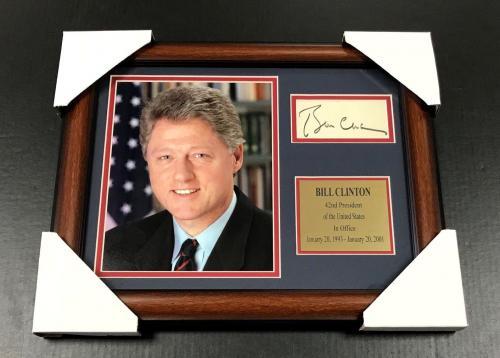 BILL CLINTON Autographed Facsimile Reprint Framed 8x10 Photo 42ND PRESIDENT