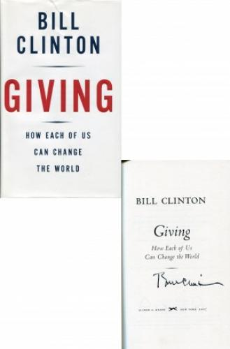 Bill Clinton Autographed Giving Book