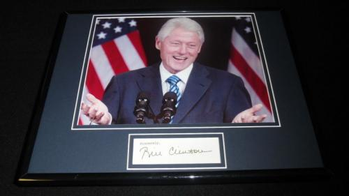 Bill Clinton Facsimile Signed Framed 11x14 Photo Display