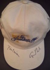 Bill Clinton & George Hw Bush Presidents Signed Auto Presidents Cup Hat Jsa Loa