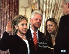 "Bill Clinton ""Go Hillary"" Signed 11X14 Photo Autographed BAS #A02044"