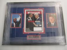 Bill Clinton POTUS signed professionally framed matted Newsweek Magazine JSA COA