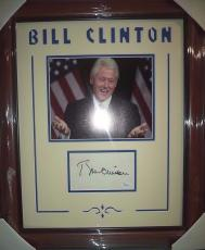 Bill Clinton President Jsa Loa Signed Autographed Double Matted & Framed Rare! B