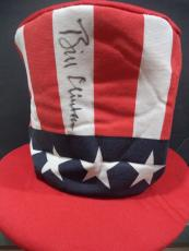 Bill Clinton President Signed Autographed Red/wht/blue Star Flag Hat Jsa Loa