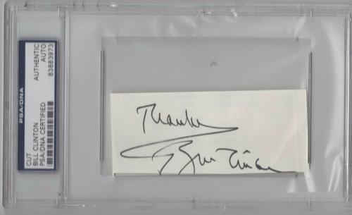 Bill Clinton Psa/dna Certified Authentic Signed Sheet President Autograph