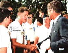 Bill Clinton Signed 11X14 Photo Meeting John F. Kennedy PSA #AB04419