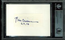 Bill Clinton Signed 1.25x2.5 Cut Signature Autographed BAS Slabbed
