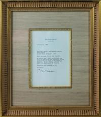 Bill Clinton Signed 1994 White House Letter Framed PSA/DNA #W03179