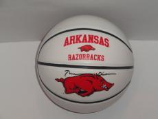 Bill Clinton Signed Arkansas Razorbacks Logo Basketball 42nd President Jsa Loa