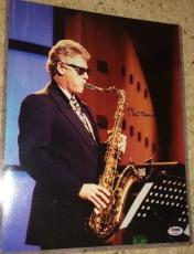 Bill Clinton Signed Autograph Rare 11x14 Saxophone On Stage Photo Psa/dna S14635