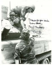Bill Clinton Signed Autographed 1983 Military 8x10 Photograph PSA/DNA