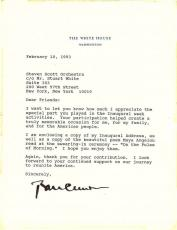 Bill Clinton Signed Autographed White House 1993 Letter Beckett BAS