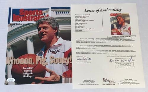 Bill Clinton signed Razorbacks Sports Illustrated Cover 8x10 photo JSA Full LOA