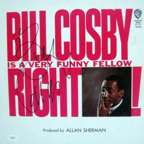 "Bill Cosby Signed IS A VERY FUNNY FELLOW  12"" LP JSA"
