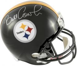 Bill Cowher Pittsburgh Steelers Autographed Riddell Replica Helmet - Mounted Memories