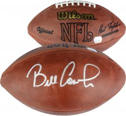 Bill Cowher Autographed Wilson Game Football - Mounted Memories