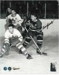 "Chicago Blackhawks Bill Gadsby Autographed 8"" x 10"" Photo -"