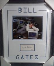 Bill Gates Microsoft Ceo Legend Jsa Loa Signed Autograph Double Matted Framed A