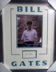 Bill Gates Microsoft Ceo Legend Jsa Loa Signed Autograph Double Matted Framed B