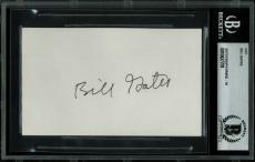 Bill Gates Signed 3.35x4.5 Cut Signature Auto Graded Gem Mint 10! BAS Slabbed