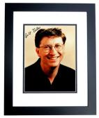 Bill Gates Signed - Autographed Windows and Microsoft Founder 5x7 inch Photo BLACK CUSTOM FRAME - Guaranteed to pass PSA or JSA