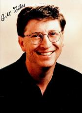 Bill Gates Signed - Autographed Windows and Microsoft Founder 5x7 inch Photo - Guaranteed to pass PSA or JSA