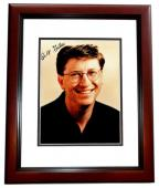 Bill Gates Signed - Autographed Windows and Microsoft Founder 5x7 inch Photo MAHOGANY CUSTOM FRAME - Guaranteed to pass PSA or JSA