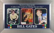 Bill Gates Signed & Framed Time Magazine Cover Autographed BAS #A05124