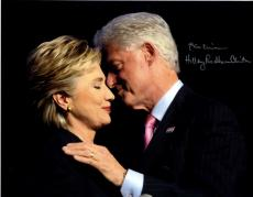 Bill + Hillary Clinton Autographed Signed 11x14 Presidential Photo AFTAL UACC RD