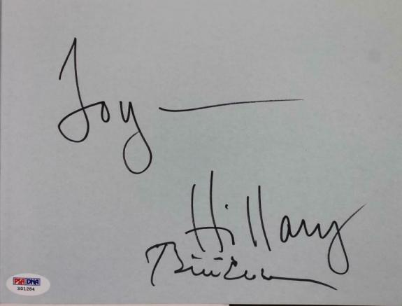 Bill & Hillary Clinton Signed The Clintons Book PSA/DNA #X01284