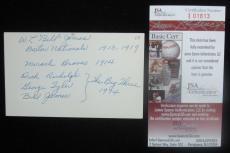 Bill James SIGNED/AUTOGRAPH Index Card BOSTON NATIONALS VINTAGE! (D.1971) JSA