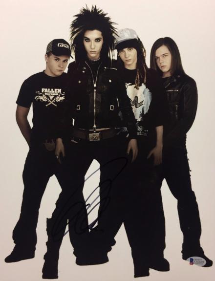 Bill Kaulitz Signed 11x14 Photo *Tokio Hotel BAS Beckett C62649